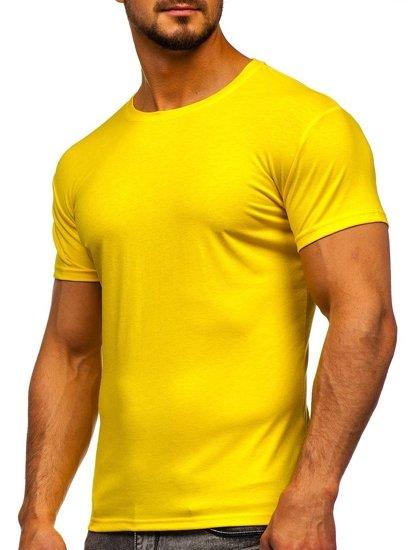 Bolf Herren T-Shirt ohne Motiv Gelb-Neon  2005