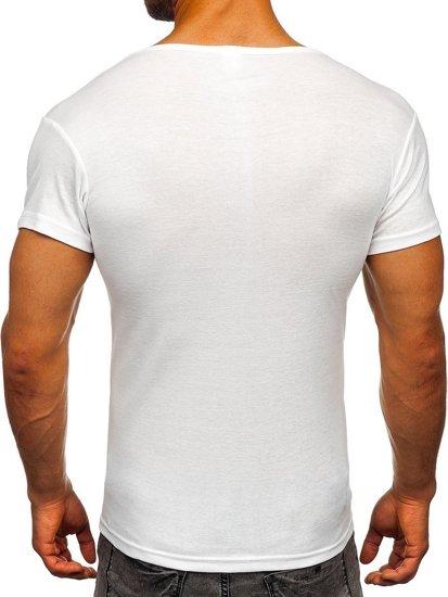 Bolf Herren T-Shirt ohne Motiv Weiß  NB003