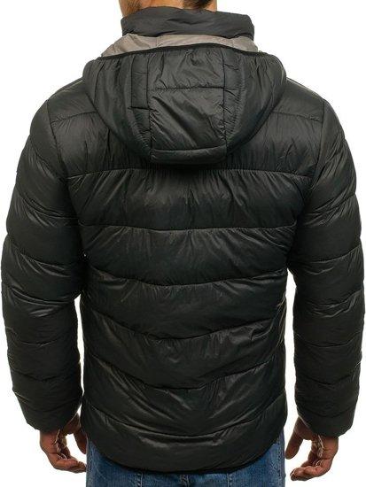Bolf Herren Winterjacke Sport Jacke Schwarzgrau  1113