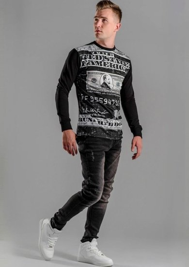 Styling Nr.50 -Sweatshirt mit Print, Jeanshose