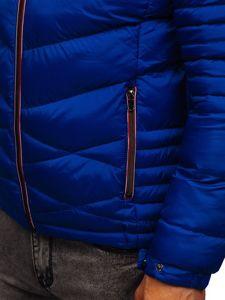 Bolf Herren Gepolsterte Winterjacke Sport Jacke Blau  50A163