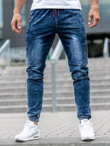 Bolf Herren Jeanshose Jogger Dunkelblau  KK1021