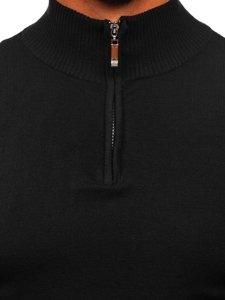 Bolf Herren Pullover mit Stehkragen Schwarz  YY08