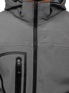Bolf Herren Softshell Jacke Grau  T019