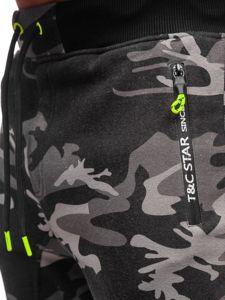 Bolf Herren Sporthose Camouflage Grau TC873