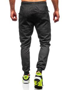 Bolf Herren Sporthose Schwarz-Weiß  Q1041