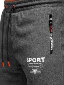Bolf Herren Sporthose Schwarzgrau-Orange  Q1042
