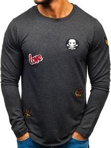 Bolf Herren Sweatshirt mit Motiv Anthrazit  0734