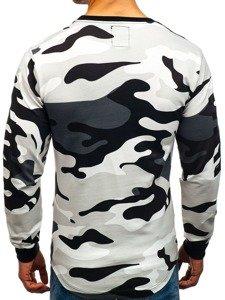 Bolf Herren Sweatshirt mit Motiv Camo-Grau  0755
