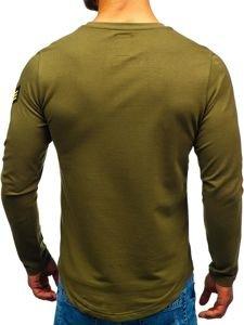Bolf Herren Sweatshirt mit Motiv Khaki  0734