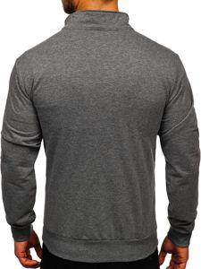 Bolf Herren Sweatshirt mit Reißverschluss Schwarzgrau  JX9832