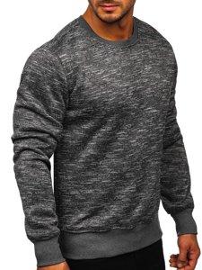Bolf Herren Sweatshirt ohne Kapuze Anthrazit  2001-4