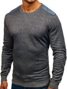 Bolf Herren Sweatshirt ohne Kapuze Anthrazit 9037