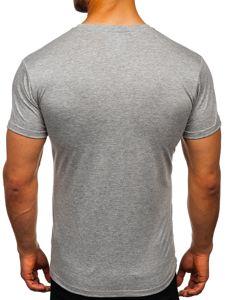 Bolf Herren T-Shirt ohne Motiv Dunkelgrau  2005