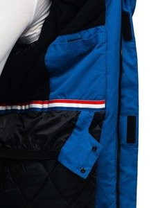 Bolf Herren Winterjacke Skijacke Blau  HZ8107